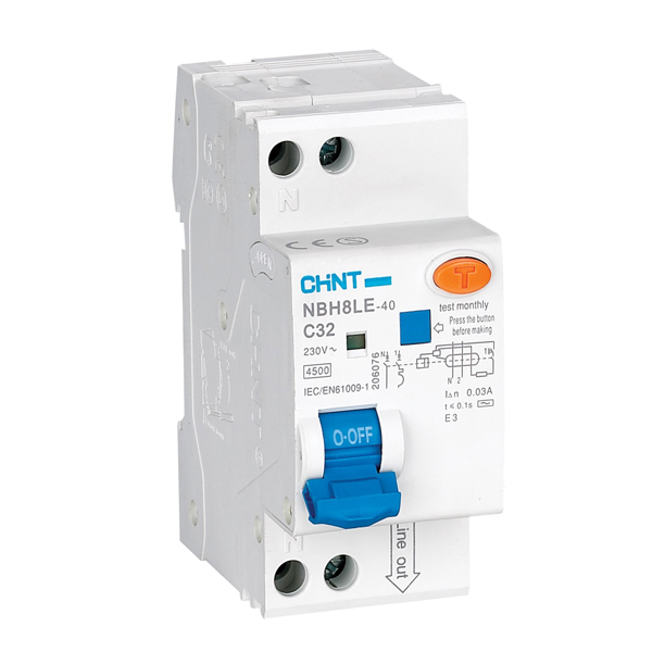 NBH8LE  Residual Current  Operated Circuit Breaker  with over-current protection  (Electronic)