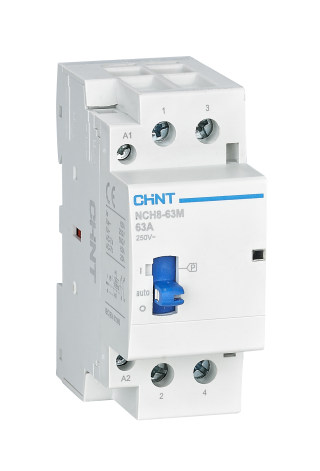 NCH8-M modular contactor with manual operation 16-63A