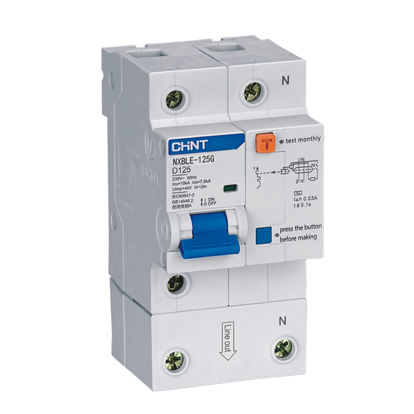 NXBLE-125G Residual Current Operated Circuit Breaker (RCBO)