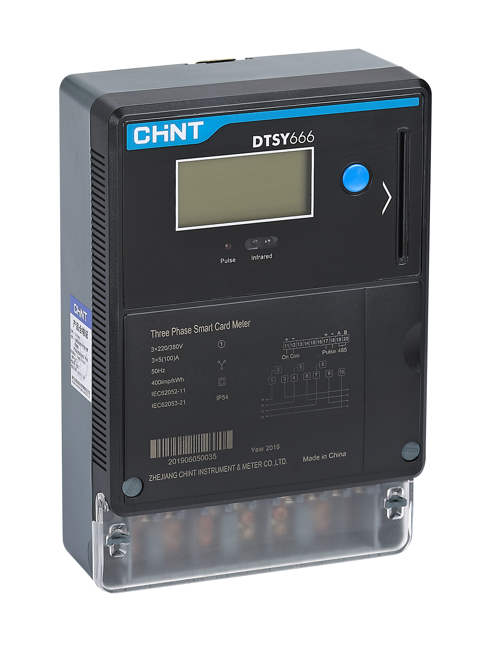 DTSY666 Three Phase Smart Card Meter