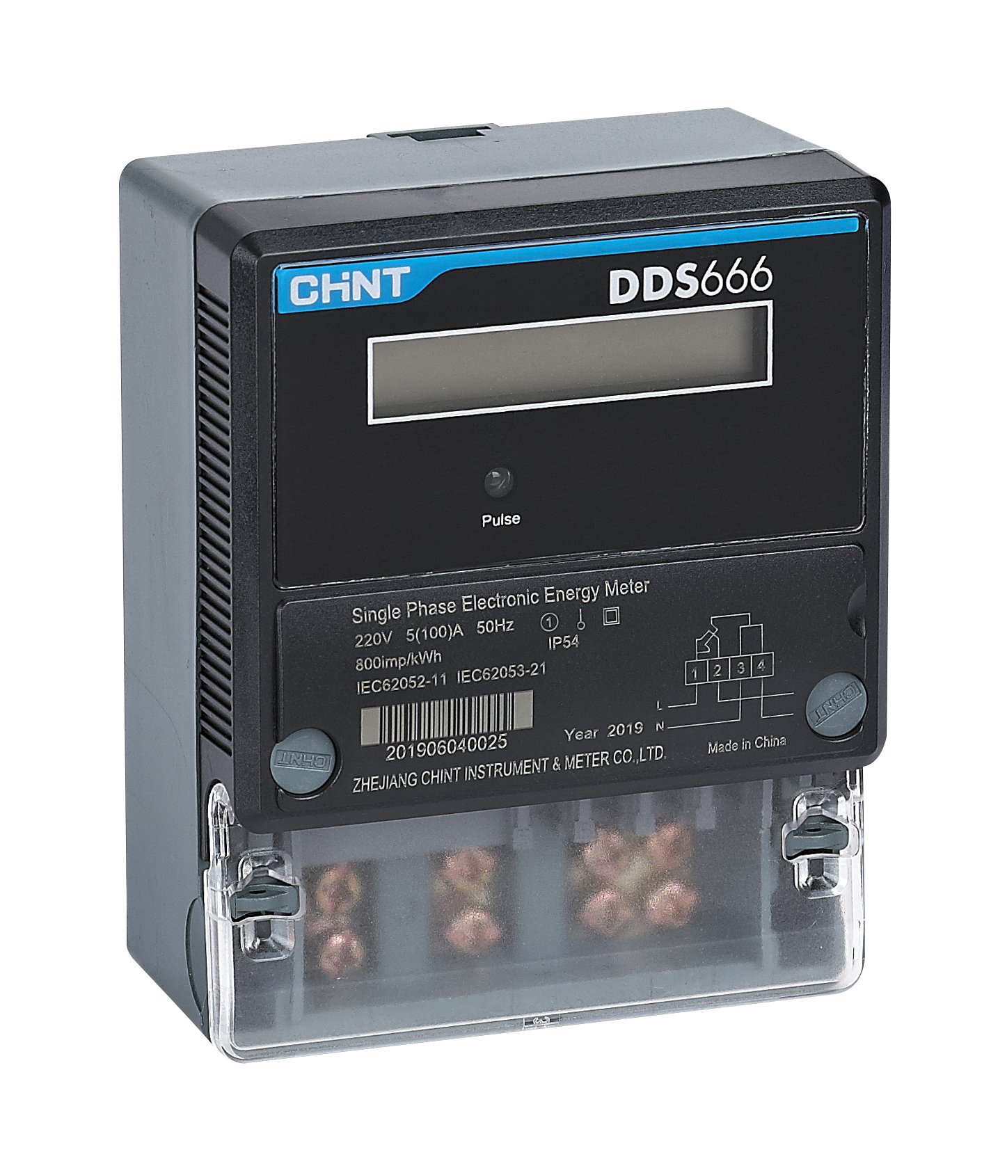 DDS666 Single Phase Electronic Meter