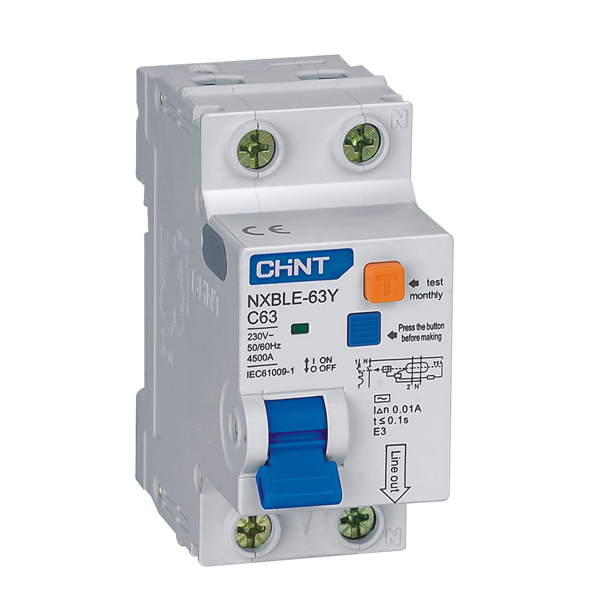 NXBLE-63Y Residual Current Operated Circuit  Breaker (RCBO)