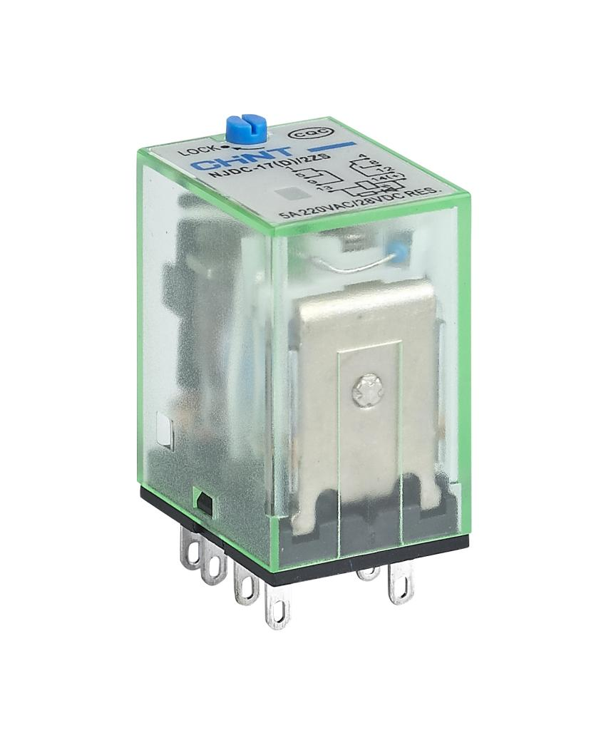 NJDC-17 Small Electromagnetic Relay with Test Button