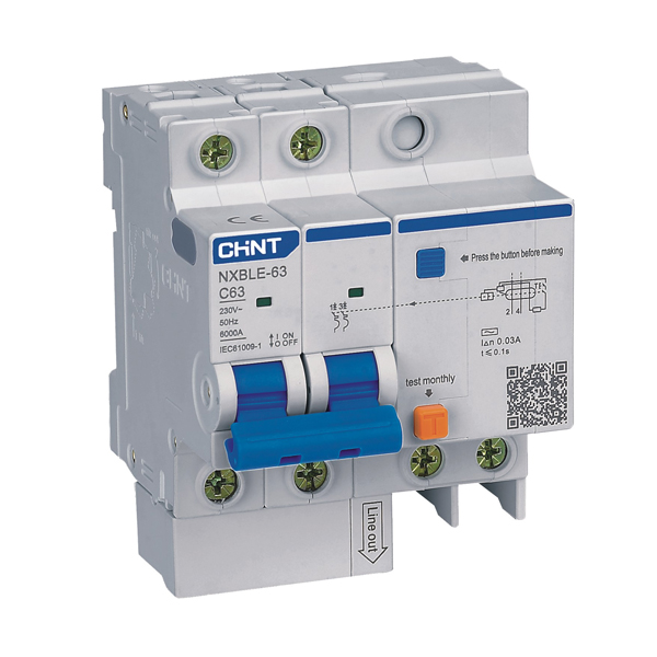 NXBLE-63 Residual Current Operated Circuit  Breaker (RCBO)